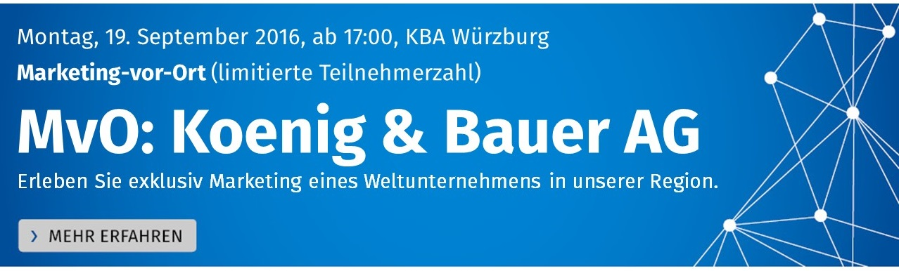 Marketing-vor-Ort bei Koenig & Bauer AG
