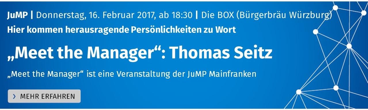 JuMP Meet The Manager Thomas Seit
