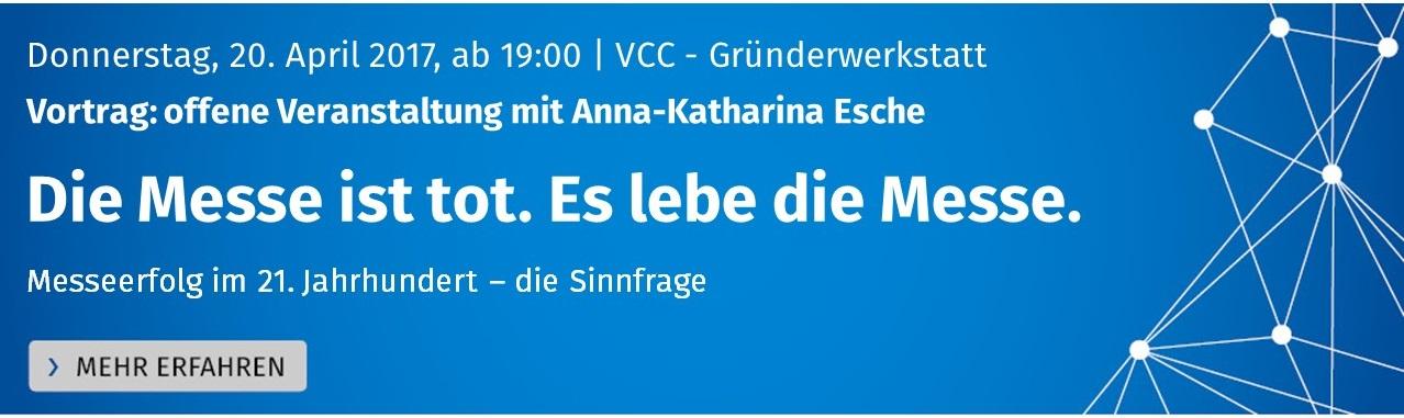 Vortrag mit Anna-Katharina Esche: Die Messe ist tot. Es lebe die Messe.