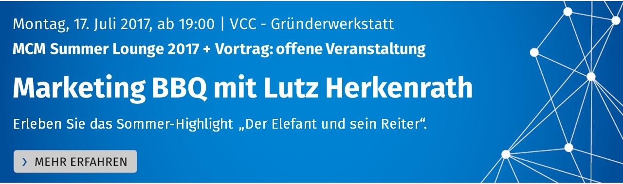 Banner MCM Summer Lounge 2017 Marketing BBQ und Lutz Herkenrath