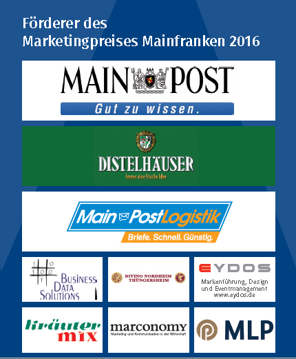 Förderer des Marketingpreises Mainfranken 2016