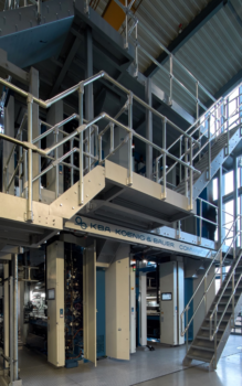 Druckmaschine im Druckzentrum Heuchelhof