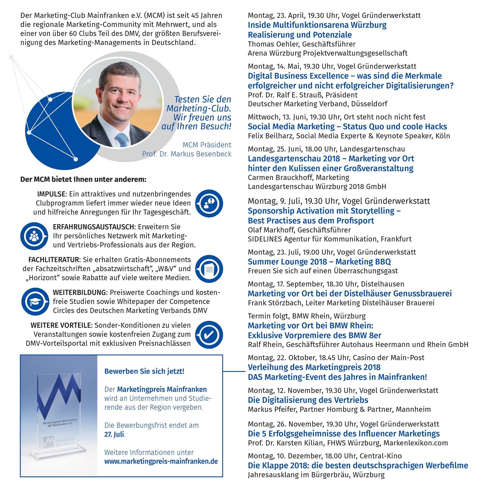 Anzeige Wirtschaft in Mainfranken Ausgabe April 2018